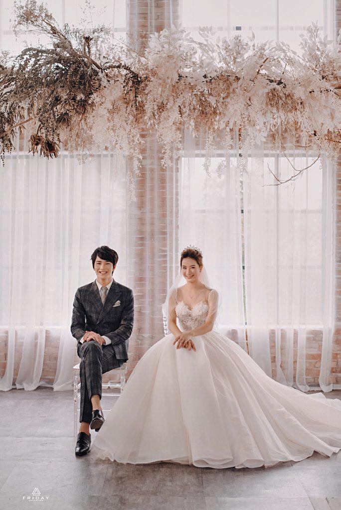 Chụp ảnh cưới theo phong cách hàn quốc tại studio