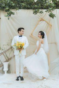 chụp ảnh cưới ở studio